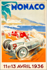 Premiumposter  Grand Prix of Monaco 1936 (French) - Travel Collection