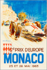 Akrylglastavla  Grand Prix of Monaco 1963 (French) - Travel Collection