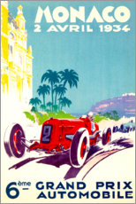 Akrylglastavla  Grand Prix of Monaco 1934 (French) - Travel Collection