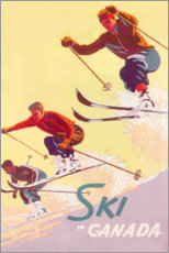 Poster  Ski in Canada (English) - Travel Collection