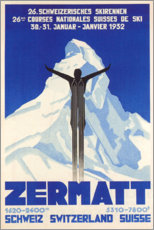 Canvastavla  Zermatt - Travel Collection