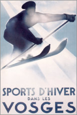 Akrylglastavla  Winter sports in the Vosges (French) - Travel Collection