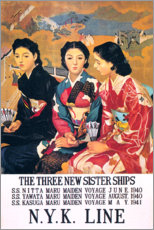 Canvastavla  Three sister ships (English) - Travel Collection