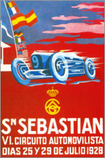 Trätavla  San Sebastian, 1928 (Spanish) - Travel Collection