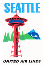 Poster  Seattle - Travel Collection