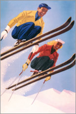 Självhäftande poster  Ski jumpers - Travel Collection