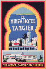 Canvastavla  Minza Hotel Tangier (English) - Travel Collection
