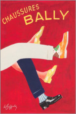 Canvastavla  Bally shoes (french) - Advertising Collection