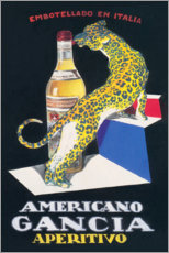 Akrylglastavla  Gancia Vermouth Bianco (Italian) - Advertising Collection