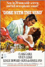 Trätavla  Gone with the wind - Entertainment Collection