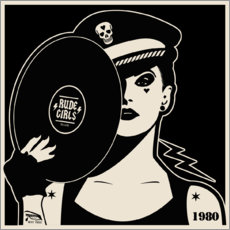 Canvastavla  Rude Girls Records I - dolceQ