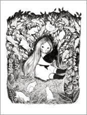 Poster  Rabbit Girl - Michelle Beech