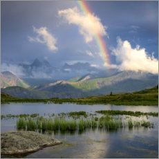 Akrylglastavla  Rainbow in the Alps - Tobias Richter