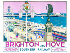 Premiumposter  Brighton and Hove - Kenneth Shoesmith