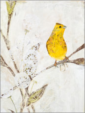 Poster  Yellowhammer on a branch - Kerstin Ax