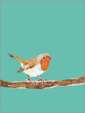 Poster Robin on a branch