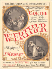Premiumposter The sufferings of young Werther (French)