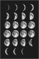 Premiumposter Different moon phases