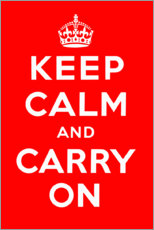 Premiumposter Stay calm and carry on (English)
