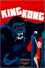 Akrylglastavla  King Kong (Danish) - Entertainment Collection