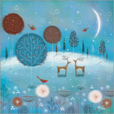 Premiumposter  Winter night in the forest - Jo Parry