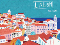 Akrylglastavla  Lisbon by the sea - Jean Claude