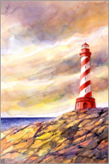 Premiumposter Lighthouse on the cliffs