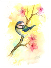 Premiumposter Tit in the spring