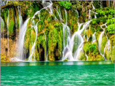 Premiumposter  Waterfalls in the Plitvice Lakes National Park - Terry Eggers