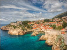 Premiumposter  Dubrovnik with the edge of the ocean - Terry Eggers