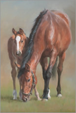 Premiumposter Mare with a foal