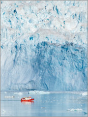 Premiumposter  Glacier Equip in West Greenland - Martin Zwick