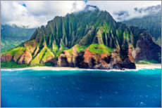 Canvastavla  Kalalau Beach on the Na Pali Coast - Russ Bishop
