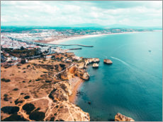 Premiumposter View of the coast of Lagos, Portugal