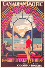 Premiumposter  Lake Louise - Kenneth Shoesmith