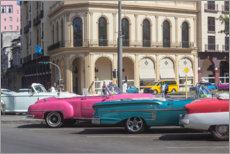 Poster  Oldtimer in front of the Parque Central