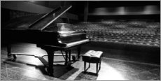 Canvastavla  Grand piano on a concert stage