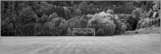 Premiumposter Football field in the country