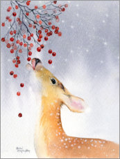 Premiumposter  Deer in winter - Rachel McNaughton