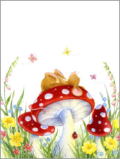 Premiumposter  Mouse on a fly agaric - Lisa Alderson