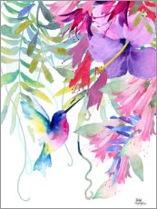 Canvastavla  Hummingbird in the hanging garden - Rachel McNaughton