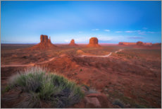 Premiumposter Monument Valley in the sunset