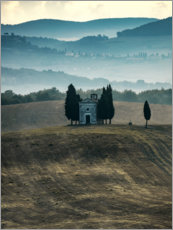 Premiumposter Small chapel in Tuscany