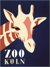 Akrylglastavla  Zoo Cologne (German) - Advertising Collection