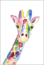 Akrylglastavla  The colorful cheerful giraffe - M. Bleichner