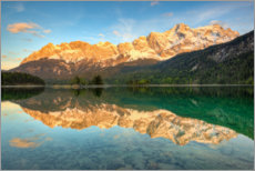 Premiumposter Alpenglow at the Eibsee