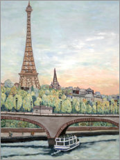 Poster  Eiffel Tower View - Deborah Eve Alastra