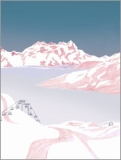 Poster  Slopes on the mountain - Mantika Studio