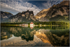 Premiumposter Königssee where Bavaria is the most beautiful