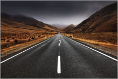 Canvastavla  Endless road in the highlands of New Zealand - The Wandering Soul